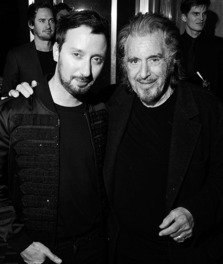 Golden Globes 2020 : Al Pacino et Anthony Vaccarello au cocktail Saint Laurent