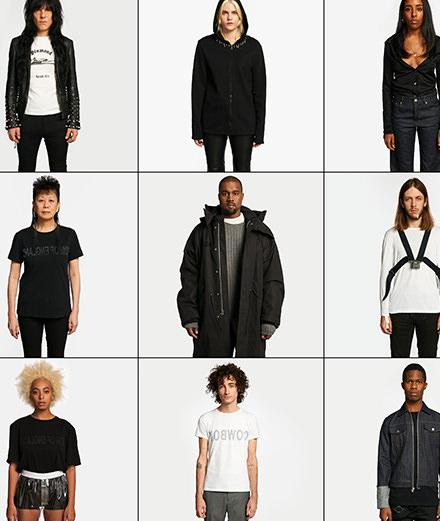 Kanye West et Solange dans la nouvelle campagne d'Helmut Lang