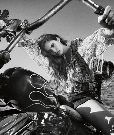 """""""Born to Be Wild"""", the fashion story by Hugh Lippe with Sara Sampaio"""
