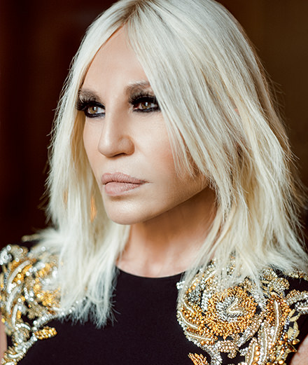 """I don't see why wearing flat shoes makes you more intelligent."" Interview with Donatella Versace"
