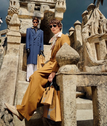 Lanvin showcases its spring-summer 2021 precollections at the Palais Idéal