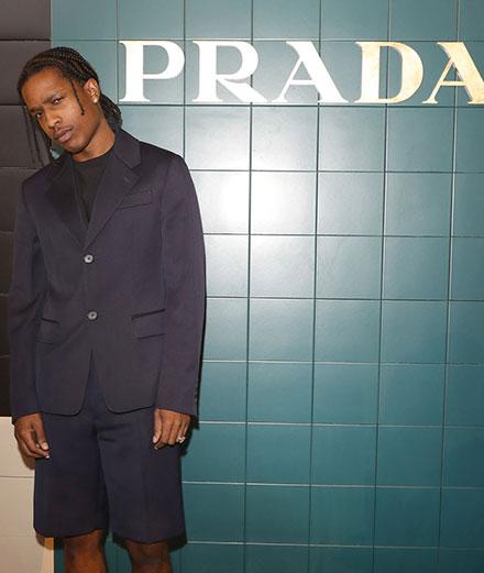 A$AP Rocky et Nicole Kidman en front row du défilé Prada