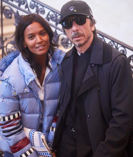 Noémie Lenoir et Vincent Elbaz au lancement de la collection de  Pierpaolo Piccioli pour Moncler