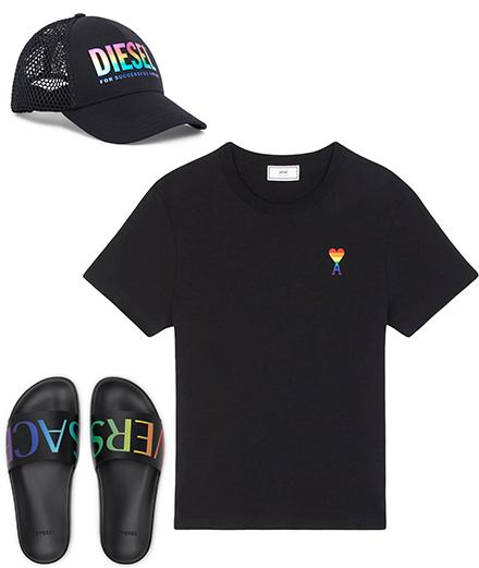 Diesel, Versace, Victoria Beckham et AMI s'engagent pour le Pride Month