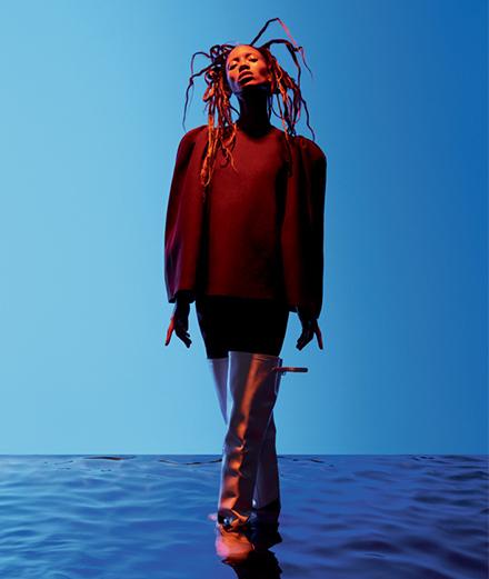 """Adesuwa in """"Interstellar"""", a fashion story by Daniel Sannwald"""
