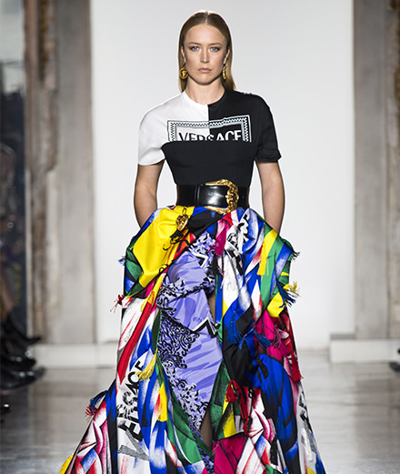 Le défilé Versace automne-hiver 2018-2019