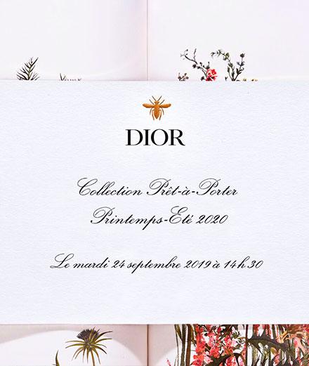 Vidéo : le défilé Dior printemps-été 2020 en direct