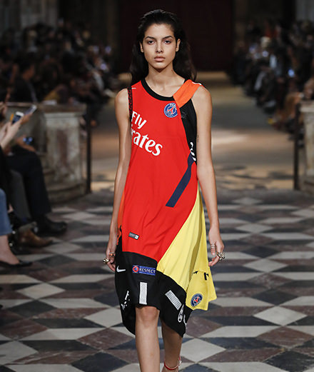 Fashion meets football with Koché spring-summer 2018 fashion show