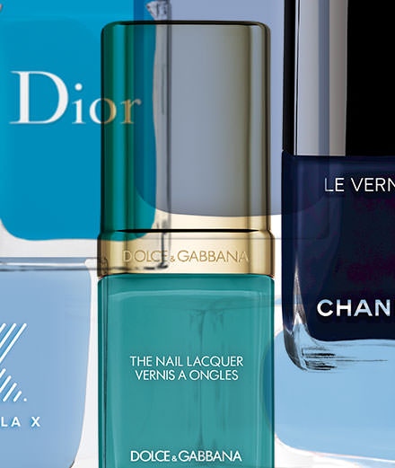 Our summery blue nail polish best of