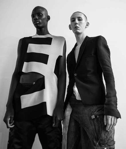 Backstage : Rick Owens men Spring-Summer 2019 fashion show seen by Mehdi Mendas