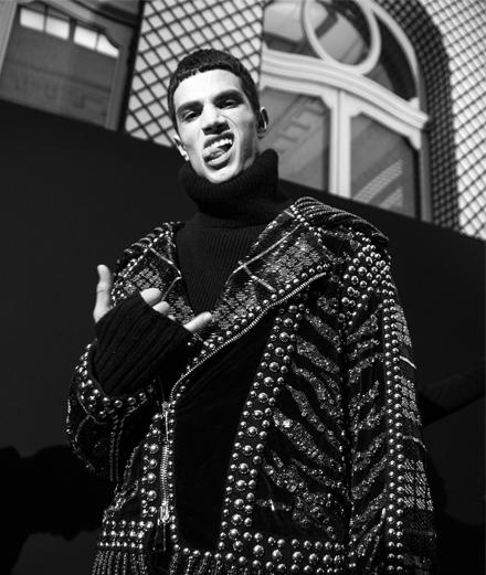 Backstage : le défilé homme Balmain automne-hiver 2017 vu par Mehdi Mendas