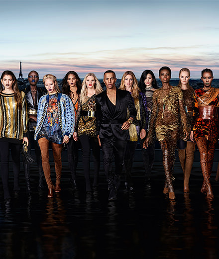 What does a L'Oréal Paris and Balmain collaboration look like?