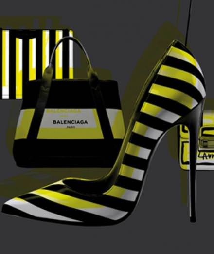 Balenciaga, Givenchy, Lanvin and Louboutin's striped accessories