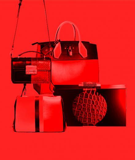Les sacs écarlates de Lanvin, Louis Vuitton, Prada et Kilian