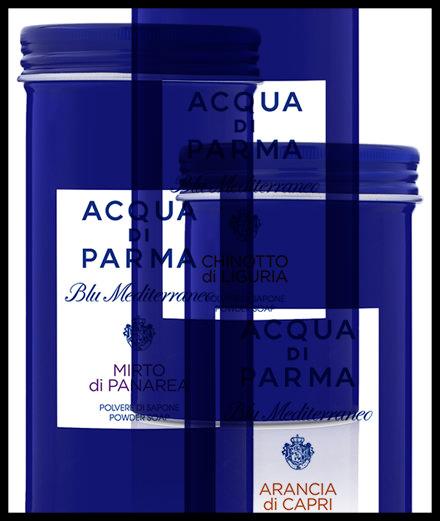 Coup de coeur de la semaine, les savons en poudre d'Acqua Di Parma