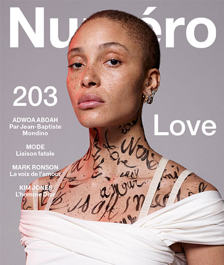 "Discover the contents of May 2019's ""Love"" Numéro with Adwoa Aboah, Mark Ronson, Kim Jones, 6lack, Tobias Kaspar…"