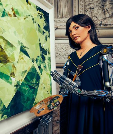 Ai-Da : première artiste-robot déjà star d'une exposition