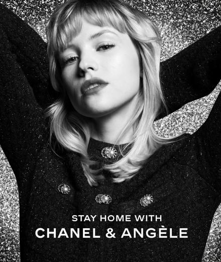 Chanel invite Angèle en live sur Instagram