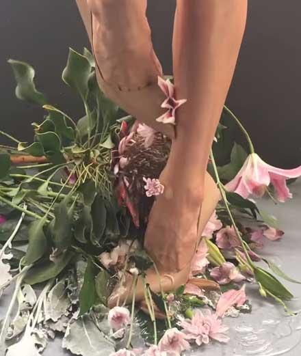 Massacre d'hortensias dans le nouveau clip d'Arca