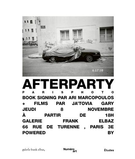 Cocktail en l'honneur d'Ari Marcopoulos à la galerie Frank Elbaz ce jeudi 8 novembre à 18h