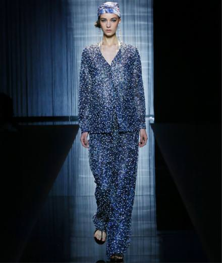 All blue at Giorgio Armani Spring-Summer 2017 runway show