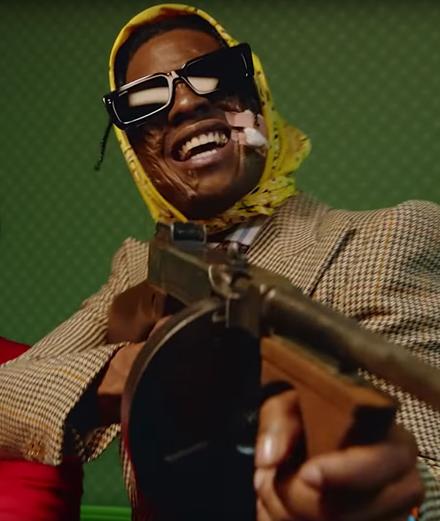 "A$AP Rocky braque une banque dans son clip ""Babushka Boi"""
