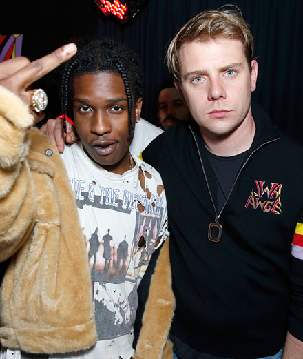 A$ap Rocky and Jonathan Anderson launch a collection, and party with Robert Pattinson and FKA Twigs
