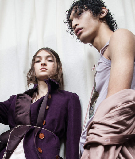 Backstage : Ann Demeulemeester fall-winter 2018-2019 collection seen by Mehdi Mendas