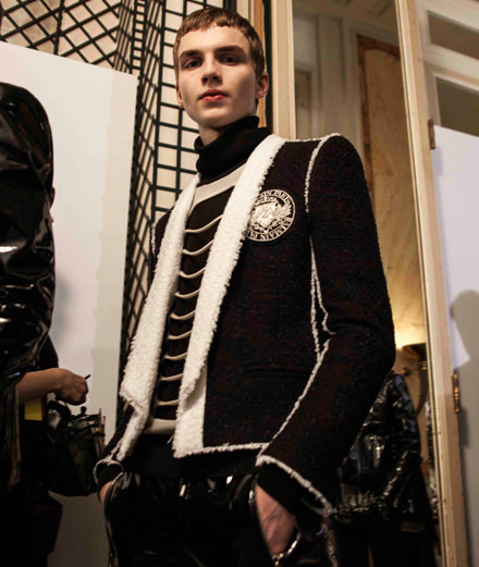 Backstage : Balmain men fall-winter 2018-2019 fashion show seen by Mehdi Mendas