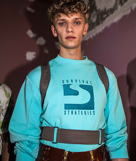 Backstage : GmbH men spring-summer 2019 fashion show seen by Mehdi Mendas