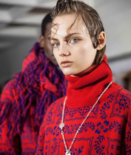 Backstage : Sacai fall-winter 2018-2019 collection seen by Mehdi Mendas