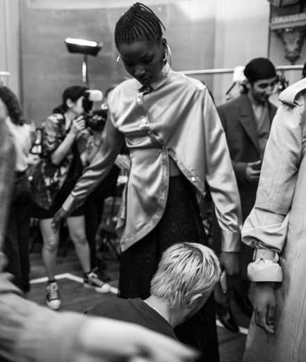 Backstage: Y/Project Spring-Summer 2020 fashion show seen by Mehdi Mendas