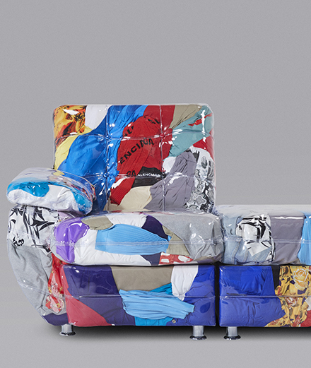 Balenciaga unveils a sofa imagined by designer Harry Nuriev