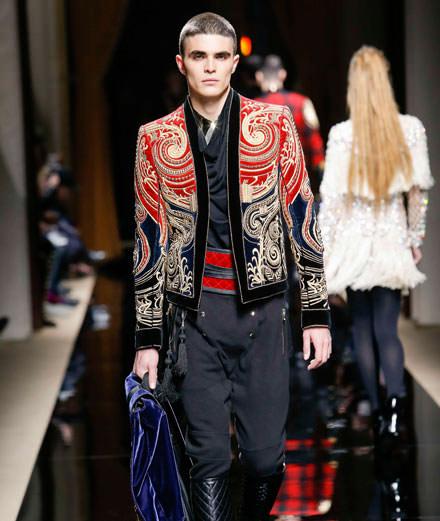 Balmain menswear fall-winter 2016 show