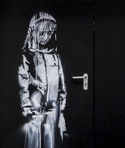 A stolen work by Banksy resurfaces in an Italian loft