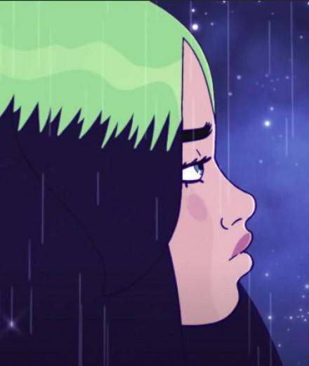 Billie Eilish se promène au clair de lune dans son nouveau clip animé