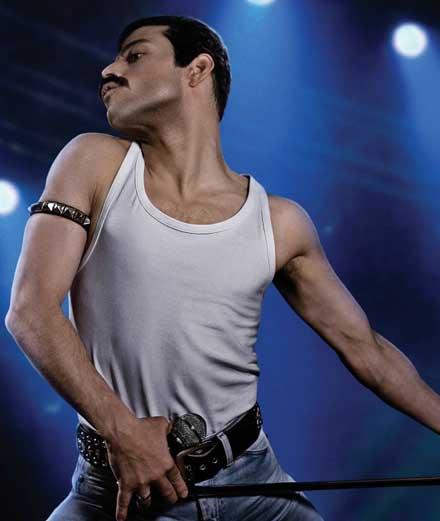 "Rami Malek en cuir moustache dans le biopic sur Freddie Mercury ""Bohemian Rhapsody"""