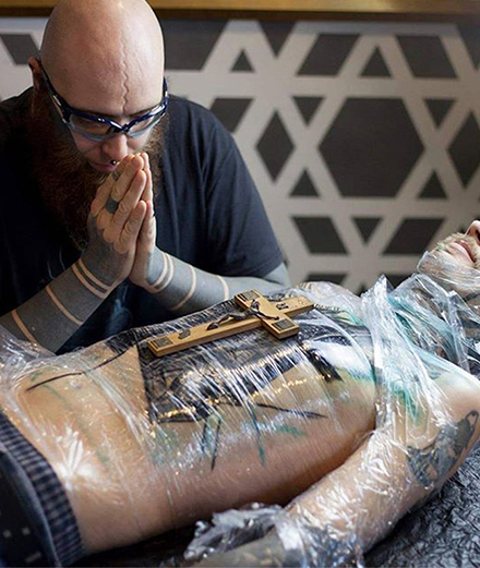 Blood and tears: the terrifying Brutal Black Tattoo Project