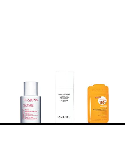 Les mini-écrans protecteurs signés Clarins, Chanel et Bioderma