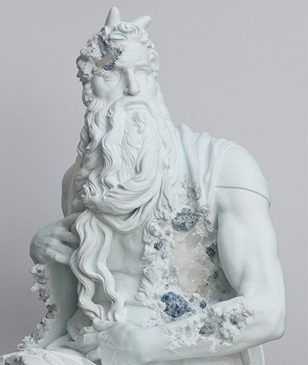 Louvre masterpieces highjacked by Daniel Arsham
