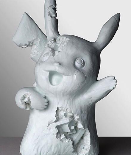 10 objets insolites transformés par Daniel Arsham, du vélo d'E.T. à Pikachu