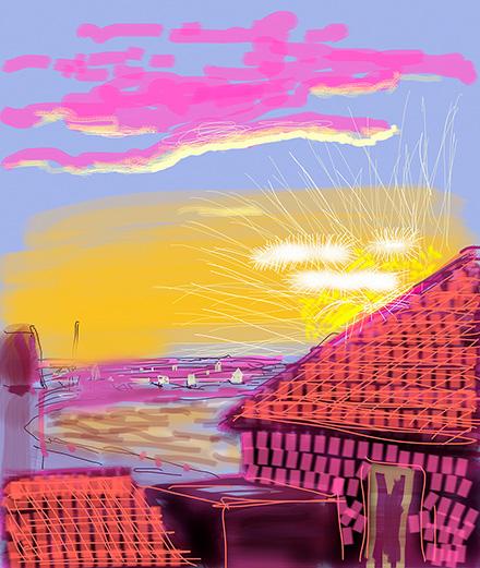 Les dessins à l'iPhone de David Hockney