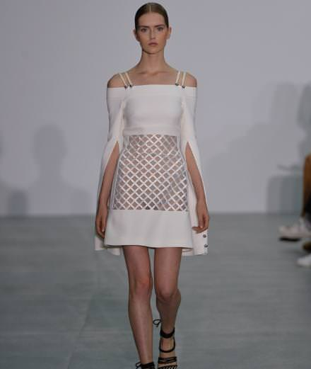 David Koma's structured looks in London