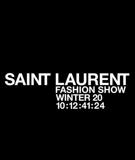 En direct : le défile Saint Laurent automne-hiver 2020-2021