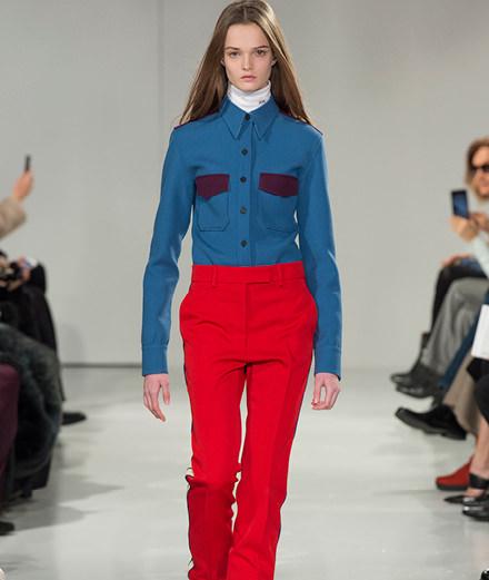 Raf Simons' first runway show for Calvin Klein
