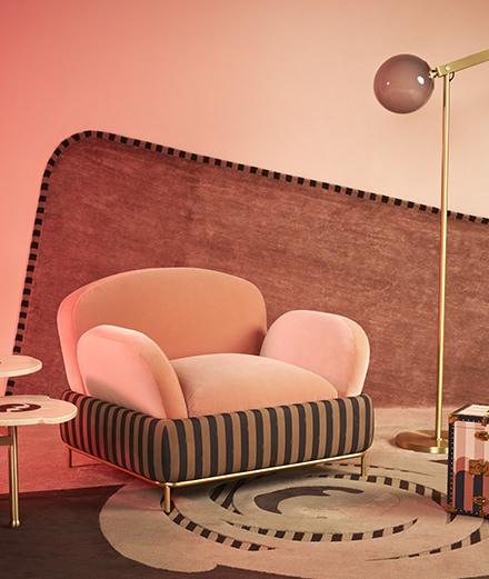 Fendi transpose ses célèbres rayures sur une ligne de mobilier