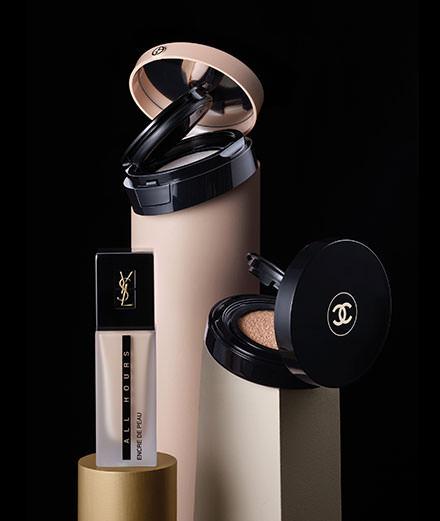 La mise en beauté du teint selon Giorgio Armani, Burberry, Chanel, Yves Saint Laurent ...