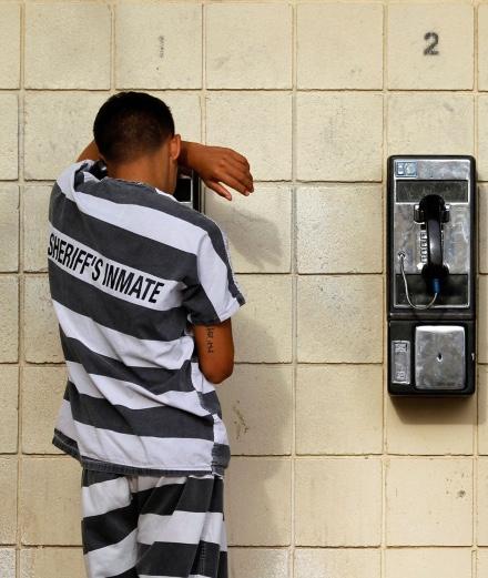 A rapper records his album down the telephone… in prison