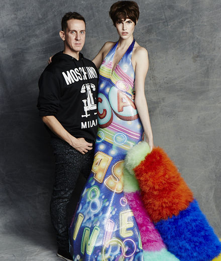 The portrait of Jeremy Scott, artistic director of Moschino