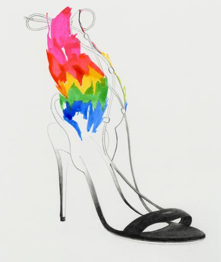 La collection de chaussures glamour d'Edgardo Osorio pour Salvatore Ferragamo